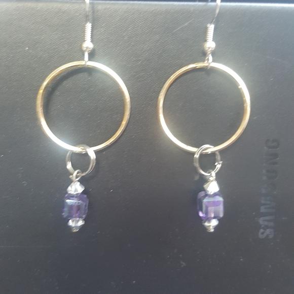Jewelry - Handmade beaded hoop earrings